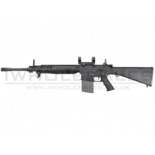 Ares - SR-004E SR25 Carbine (Locked to semi EFCC) DMR AEG (with Scope Mounts) (ARES-SR-004E)(Black)(400fps)