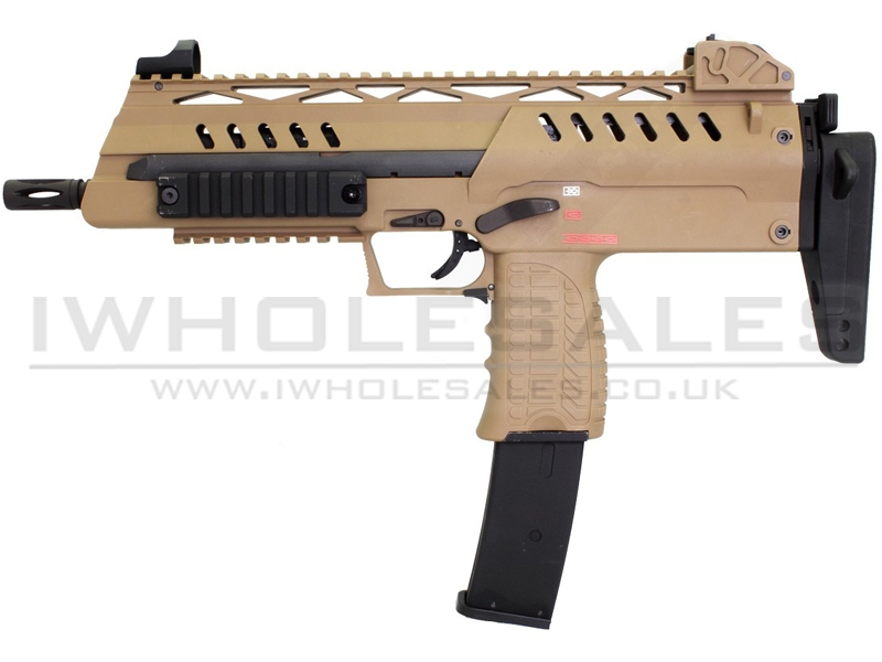 WE SMG8 Gas Blowback SMG (Tan)