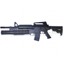 "Double Eagle - M4 ""Grenadier"" - M4 RIS-AEG & Tri-Shot - M203 (Black - M813)"