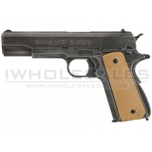 "Armorer Works Custom ""Molon Labe"" 1911A1 Gas Blowback Pistol (Full Metal - Tan Grips)"