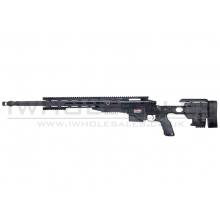 Ares MS700 TX System CNC Sniper Rifle Spring Powered with Rails (Black) (MSR-012)