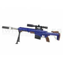 CCCP Custom Barrett with Mock Scope, Bipod and Silencer Spring Rifle (Blue - 2017A)