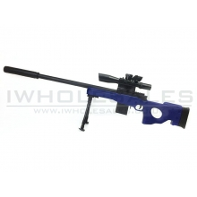 CCCP Custom L96 with Mock Scope, Bipod and Silencer Spring Rifle (Blue - 929-2)