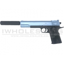 CCCP Custom 1911 with Silencer Spring Pistol (Blue - 2019C)