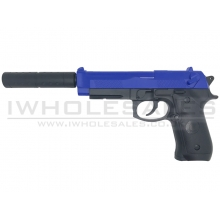 CCCP Custom M92 Spring Pistol with Silencer (Blue - 218)