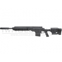 S&T ASW338 Sniper Rifle (with Silencer - Spring Powered - Black - Ex Display)
