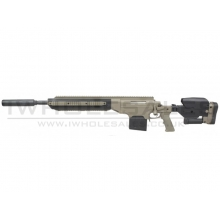 S&T ASW338 Sniper Rifle (with Silencer - Spring Powered - Tan)