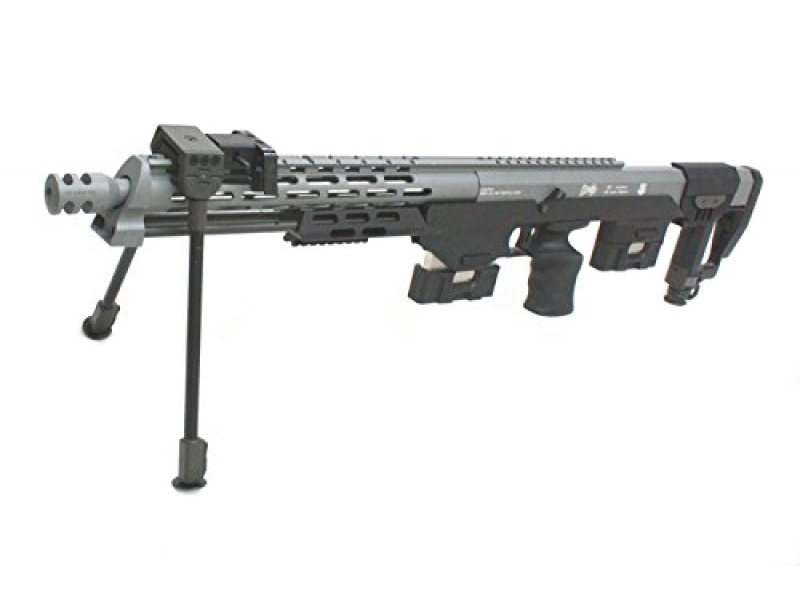 S&T DSR-1 Bullpup Sniper Rifle (Spring - 2 Magazine and Hard Sniper Case - ST-SPG-13-GY)
