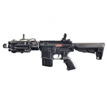 Golden Eagle M4 RIS CQB 'Tanker' AEG (Black - Inc. Battery and Charger)