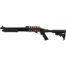 Golden Eagle M870 Tri-Shot Gas Pump Action Shotgun (Medium - Black - M8873 - V2)