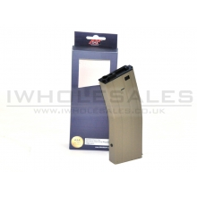 A&K M4 Flash Magazine (Metal - 350 Rounds - Tan - A037-TAN)