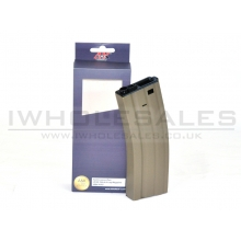 A&K M4 Magazine (Metal - 350 Rounds - Black - A002-TAN)