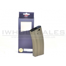 A&K M4 Magazine (Metal - 60 Rounds - Tan - A004-TAN)