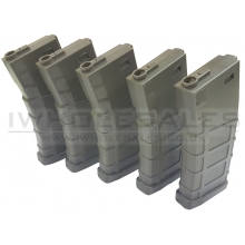 Bolt M4 Magazine (Polymer - 140 Rounds - OD - BA065G - Pack of 5)
