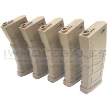 Bolt M4 Magazine (Polymer - 140 Rounds - Tan - BA065T - Pack of 5)