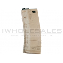 King Arms AEG Magazine TES TMAG for M4/Black Rain Ordnance Series (370 Rounds - Tan - KA-MAG-72-DE)