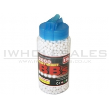 AA 0.20g BB Pellets with Speedloader Bottle (White)