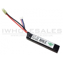 Bolt 11.1v 15c 850mAh Lipo Battery (1 Way)