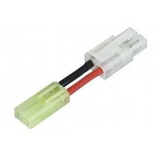Airsoft Charger Adapter Lead - Male Mini-Tamiya to Female Tamiya