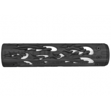 "Unique ARs CNC Machined Flame Handguard for AR15 Pattern Rifles (Black - 9"" - With Airsoft Barrel Nut)"