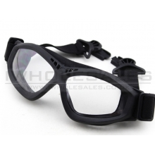 Big Foot Clear Glasses (FAST Helmet Adapted Version) (Black)