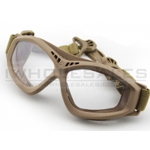Big Foot Clear Glasses (FAST Helmet Adapted Version) (Tan)