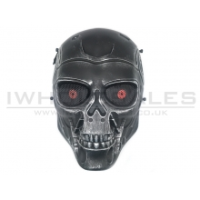 Big Foot Airsoft Full Face T800 Terminator Mask (with Mesh Eye Protection - Silver/Black)