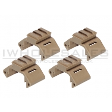 Ares Amoeba Handguard Rail Unit (Tan - 4 Pieces Set) (AM-DH-011-DE)