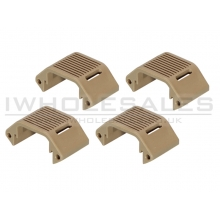 Ares Amoeba Handguard Standard Unit (Tan - 4 Pieces Set) (AM-DH-013-DE)