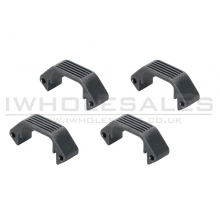 Ares Amoeba Handguard Half Unit (Black - 4 Pieces Set) (AM-DH-015-BK)