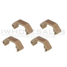 Ares Amoeba Handguard Half Unit (Tan - 4 Pieces Set) (AM-DH-015-DE)