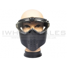 Battleaxe Full Face Goggle with Fan (B28 - Black)