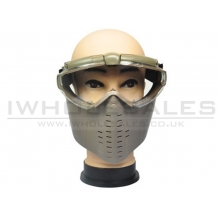 Battleaxe Full Face Goggle with Fan (B28 - Tan)