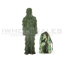 Big Foot Ghillie Suit Burrs Camouflage Woodland
