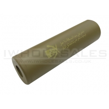 CCCP Skull Silencer (Full Metal - 110mm in Length - Plain - Tan)