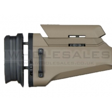 Ares Amoeba Striker Sniper Rifle Tac. Adv. Butt Pad plus Cheek Pad (Tan - AS-PAD001-DE)