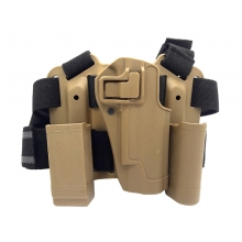 Big Leg Holster 226 with Two Pouches (Hard - Tan)