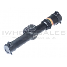 Black Owl Gear 1.5-6x24 Optic Fibre Scope (BO-SSC3201-BK - Red - Black)