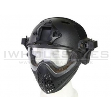 Big Foot WST Piloteer Helmet System II (High Version - PJ Type - Round Hole - S Size - Black)