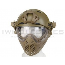 Big Foot WST Piloteer Helmet System II (High Version - PJ Type - Round Hole - S Size - Tan)
