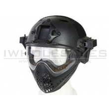 Big Foot WST Piloteer Helmet System II (High Version - PJ Type - Round Hole - L Size - Black)