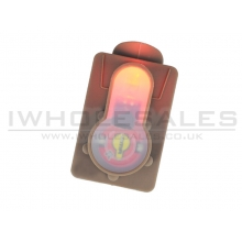 FMA S-Lite Card Button (Strobe Red Light - Tan - TB981)