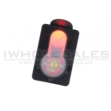 FMA S-Lite Card Button (Strobe Red Light - Black - TB982)