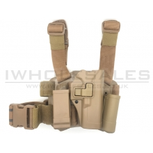 Big Leg Holster 17 Series with Two Pouches (Hard - Tan)