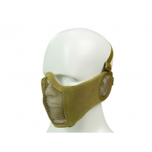Big Foot Strike Steel Mesh Mask with Ear Protection (Tan)