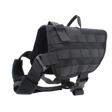 Big Foot Dog Training Molle Tactical Vest (Black)