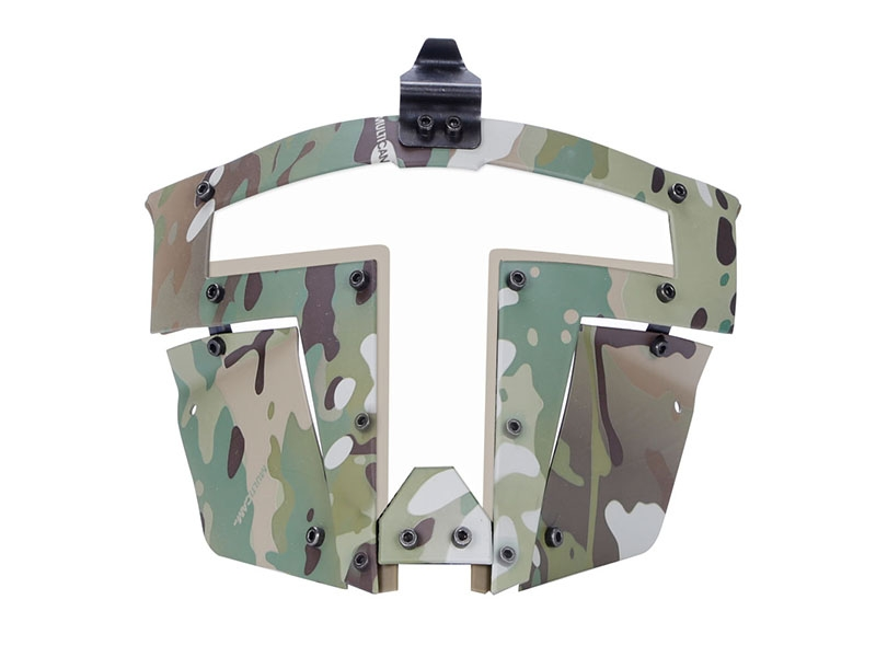 Big Foot Spartan Clear Glass Face Mask (Multicam)