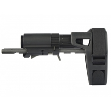 Ares M45 Series Retractable Stock with Stabilizing Brace (Black - AM-ABS005-BK)
