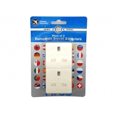 CCCP EU 2 Pin to UK 3 Pin Plug (13a - With Fuse - Pack of 2)