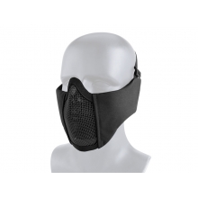 Big Foot Tactical Mesh Half Face Mask (With Ear Protection - Black)